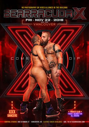 UNCESORED-800PX-BEARRACUDAX-VANCOUVER-NOV-2019-POSTER-1